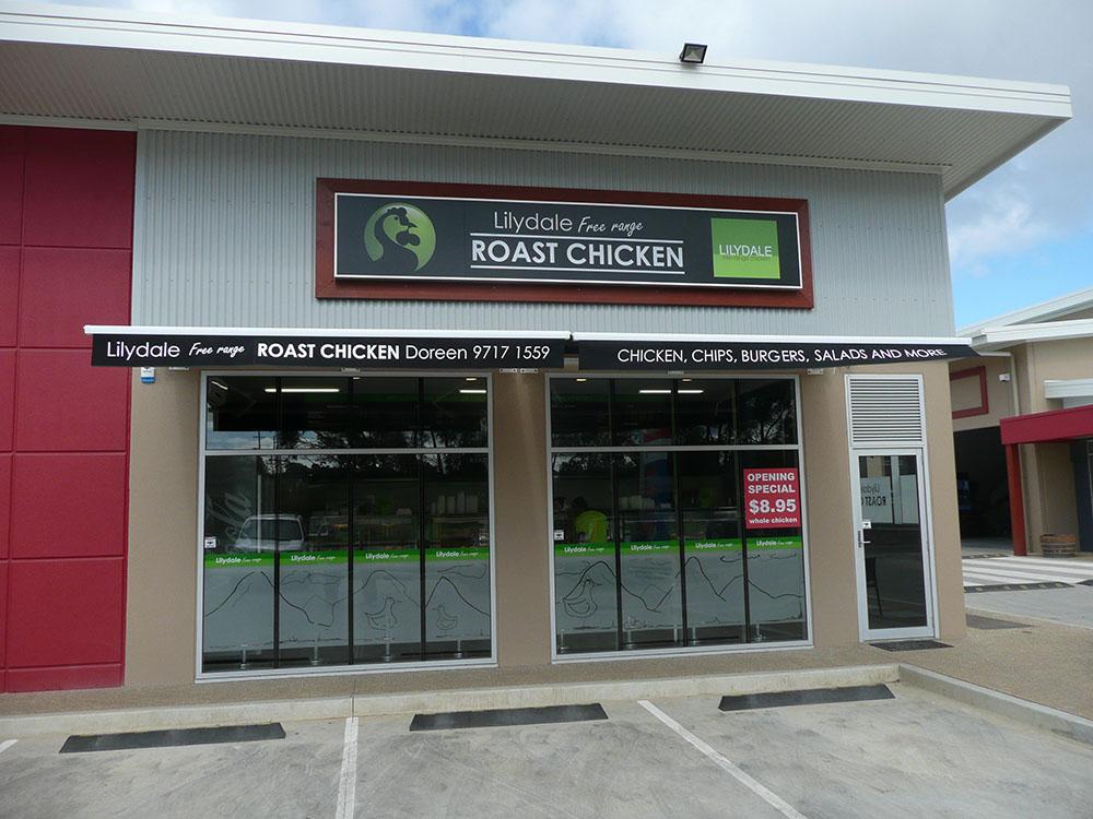 Lilydale Chicken Shopfront Msc Signs